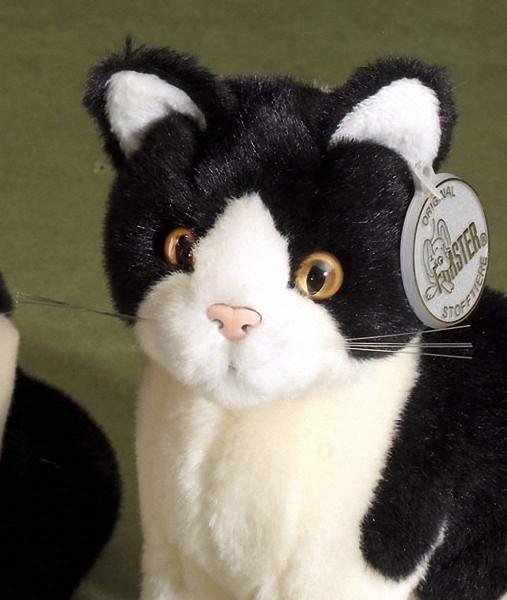 Förster Stofftiere 3278 Katze grau/weiß sitzend 20 cm hoch