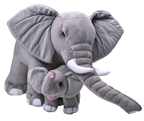 Jumbo Elefant Mom & Baby Mom ca.76cm und Baby ca.30cm by Wild Republic W24102 Plüschtier Stofftier