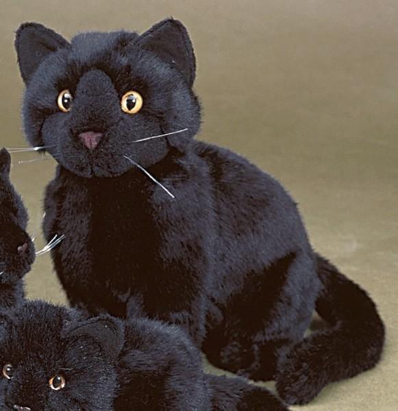 Förster Stofftiere 3380 Katze schwarz sitzend 30cm