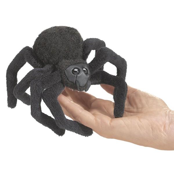Folkmanis 2754 Fingerpuppe, schwarz Mini Spinne / Mini Spider